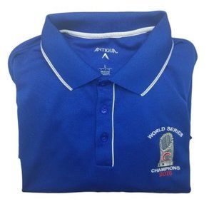 Chicago Cubs World Series Blue Golf Polo